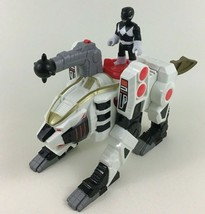 Imaginext White Ranger Zord Power Rangers 2pc Lot w Black Figure and Tiger - $34.60