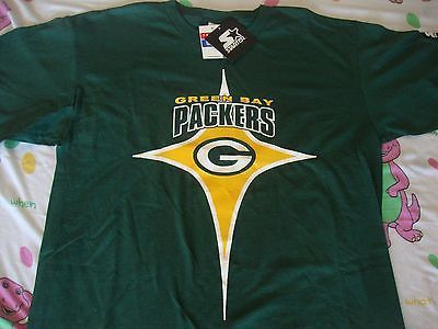 Vintage NFL Green Bay Packers National Football Starter Brand NWT T Shirt L