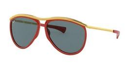 Ray Ban Aviator Olympian Sonnenbrille RB2219 1243R5 59 Rot Gold Blau Klassisch - $99.78