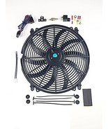 "16"" Electric Curved Blade Reversible Cooling Fan 12v 3000cfm+ Thermostat... - $39.99"