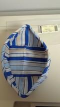 Longaberger Medium Berry Basket Cabana Blue Stripe Drop In Fabric Liner ... - $8.86