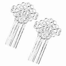 3 Pcs Silver Tone Metal Side Comb Traditional Han Chinese Dress Hairpin Decorati