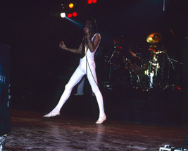 Queen Freddie Mercury 1970'S Tight White Leotard Performing 16X20 Canvas Giclee - $69.99