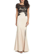 Adrianna Papell Floral Lace Sheath Dress, Champagne Black,4 - $168.29