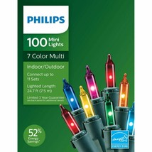 Philips 100ct Christmas Incandescent Smooth Mini String Lights Multicolored GW