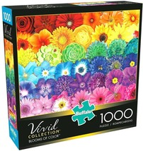 NEW 1000 Piece Jigsaw Puzzle Buffalo Vivid Coll. 26 in x 19 in, BLOOMS O... - $21.80