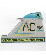 "5.5"" USAF AIR FORCE VFA-75 A-6 INTRUDER TAILFIN LT BLUE EMBROIDERED JACK... - $18.99"