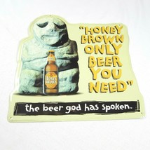 Vintage Honey Brown Lager Beer God Metal Sign 21 x 20 Bar Sign Man Cave - $39.99
