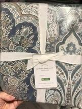 Pottery Barn Jordana Duvet Cover Set Blue King 2 King Shams Floral 3pc - $178.00