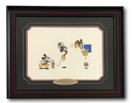 MICKEY MOUSE BASKETBALL FRAMED 12x16 ETCH ARTWORK SOWA & REISER #/500 DI... - $499.00
