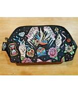 Liquor Brand bird, flowers, hands Travel Makeup Cosmetic Wash Bag Pouch - $15.83