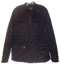 Zara Man Black Microsuede Jacket w/Lots of Front Pockets Sz L - $71.25