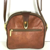 Valentino di paolo Vintage Small Brown Leather Multi Compartment Crossbo... - $45.58