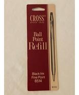 Cross Ball Point Pen Refill Black Ink Fine Point 8514 on Original Card - $4.99