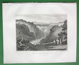 ITALY Civita Castellana - 1830 Antique Print Engraving - $7.61