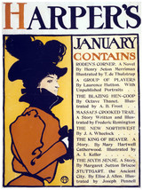 Decor Poster.Home wall art.Harper's Magazine for January.Wall Design.1429 - $11.30+