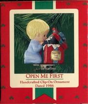 1986 - New in Box - Hallmark Christmas Keepsake Ornament - Open Me First - $4.94