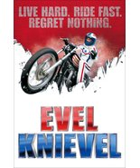 """Evel Knievel Stand-Up Display """"Live Hard, Ride Fast, Regret Nothing"""" - D... - $16.99"""