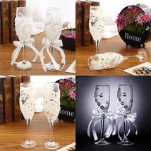 2 pcs Set Wedding Glass Creative/ Crystal Wedding Champagne Glasses - $30.25