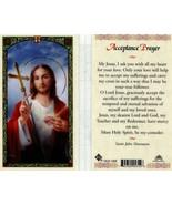 Acceptance Prayer I Ask Jesus For His Love - Item EB576 - Catholic Lamin... - $1.99