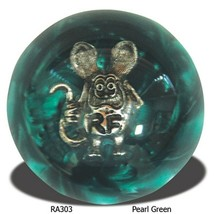 Rat Fink Shift Knob - Black & Aqua - $95.00