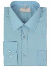 Men's Solid Long Sleeve Formal Button Up Standard Barrel Cuff Dress Shirt image 10