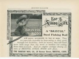 1904 Bristol Steel Fishing Rods Ad Little Boy Catching Fish Horton Mfg. ... - $9.99