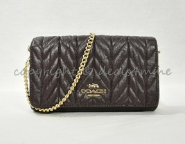 NWT! Coach F39142 Clutch / Crossbody With Quilting in Oxblood /Light Gold - $189.00