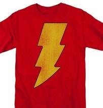 Shazam Lightning Bolt T-shirt retro DC comic cartoon superfriends cotton DCO268 image 1