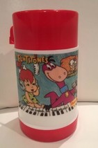 The Flintstones 1989`Denny's The Dinos Plastic Lunch Box Thermos - $17.86