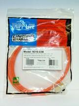 Tripp Lite Duplex Multimode 62.5/125 Fiber Patch Cable LC/SC 3M 10-ft. N316-03M - $9.55