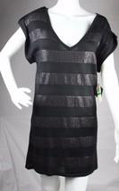 Baby Phat Jean Co.Mujer Blusa Vestido de Punto con Lentejuelas Negro Man... - $31.39