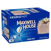 Maxwell House Vanilla Hazelnut Coffee, Medium Roast, K-CUP Pods, 12 coun... - $45.99