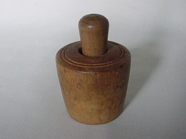 VINTAGE MINIATURE BUTTER STAMP MOLD WITH FLOWER DECORATION - $29.50