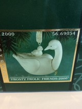 Dept. 56 Snowbabies Frosty Frolic Friends Year 2000 Bisque Goose Ornament 69054 - $11.25