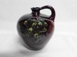 Weller Floretta Handled Jug Antique Vase Green Grapes Design Little Brow... - $39.99