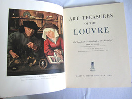 1951 ART TREASURES OF THE LOUVRE RENE HUYGHE COLLECTIBLE BOOK-100 COLOR ... - $55.00