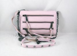 Rebecca Minkoff Mini 5-Zip Clutch in Pale Pink Brushed Gunmetal Hardware... - $158.60
