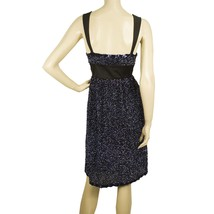 Duyan Midnight Blue Black Fully Sequined Knee Length Bow Dress size 42 It image 2