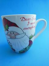 Fitz & Floyd Christmas Mug Santa's Big Day Dear Santa I Want Everything New - $7.42