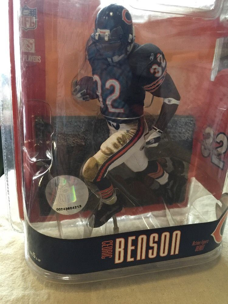 McFarlane Toys Action Figure - NFL Series 15 - CEDRIC BENSON (Chicago Bears)