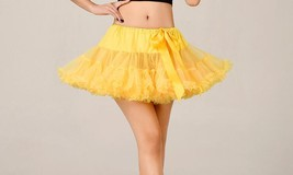 Hot Sale Girls Skirts Yellow Short Petticoats For Wedding Girls Dance Dr... - $26.99