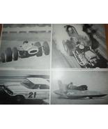 Champion Spark Plugs Racing 2 Page Print Magazine Ad 1965 - $5.99