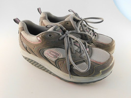 Skechers Shape Ups Womens Pink Gray Sneakers 11806 GYPK Sz 8.5 - $16.82