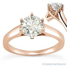 Forever Brilliant Round Cut Moissanite 14k Rose Gold Solitaire Engagement Ring - €641,59 EUR - €3.400,50 EUR