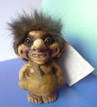Norway TROLL Gnome figurine Norge Ny Form Handmade 1994 Original Label T... - $49.00
