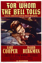 Gary Cooper Ingrid Bergman in for Whom The Bell Tolls 16x20 Canvas - $69.99
