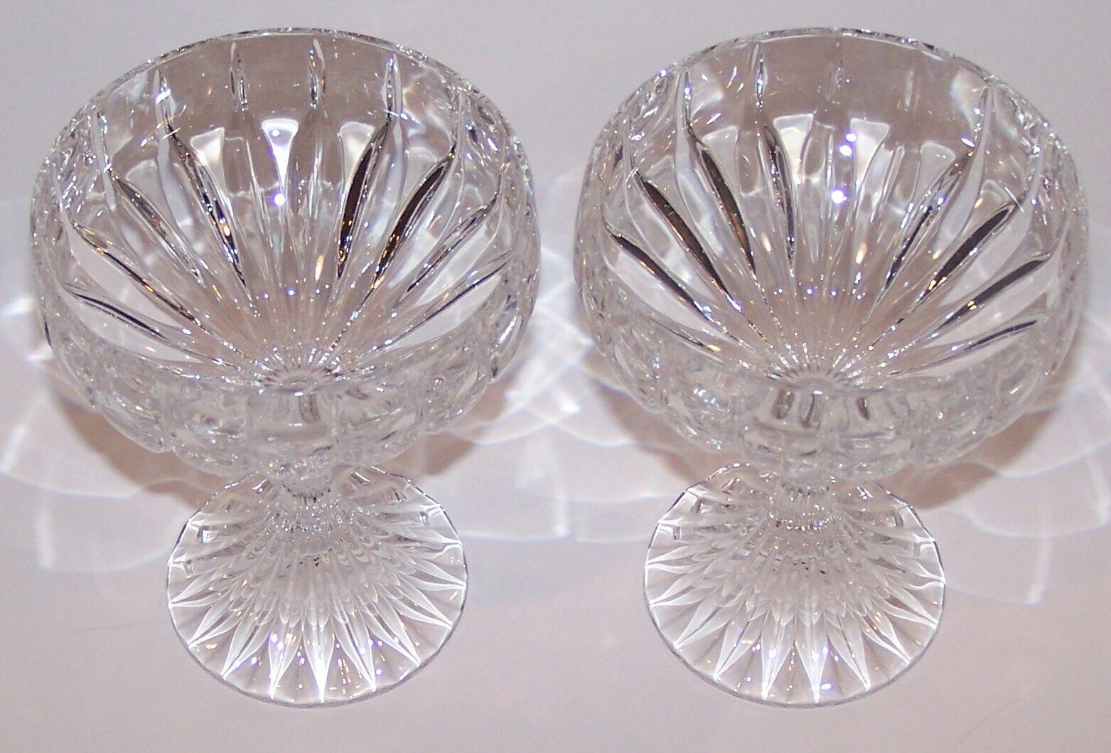 "Primary image for STUNNING PAIR OF MIKASA CRYSTAL PARK LANE 5 1/8"" CHAMPAGNE/TALL SHERBET GLASSES"