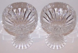 "STUNNING PAIR OF MIKASA CRYSTAL PARK LANE 5 1/8"" CHAMPAGNE/TALL SHERBET ... - $36.17"