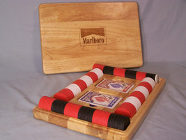 Marlboro Brand Box of Poker Cards (2 decks Bicycle) Poker Chips, Dealer ... - $33.38